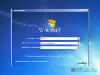 Cara Menginstall Windows 7 Lengkap Dengan Gambar